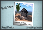 Sweet Comfort- Beach Shack Ad